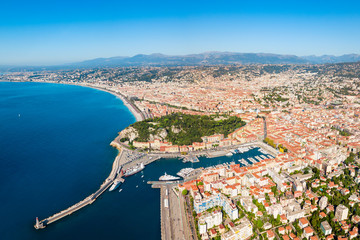 Photo sur Plexiglas Nice Nice aerial panoramic view, France