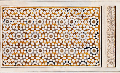 Fototapete - Taj Mahal geometric pattern background