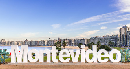 Montevideo city sign (a tourist hotspot)