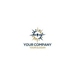 compass key community logo design vector