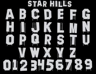 Star Hills Alphabet - 3D Illustration
