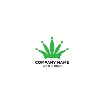 king cannabies leaf logo design