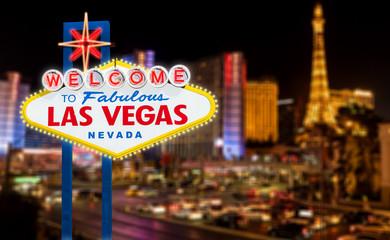Fotobehang Las Vegas Las Vegas sign with night lights
