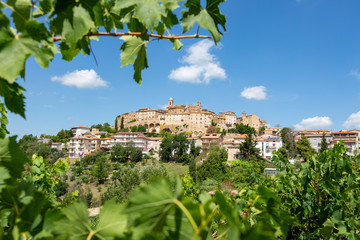 Historic Italian village of Cossignano in the Marche region