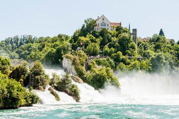 Rheinfall, Rhein, Rheinfallfelsen, Wasserfall, Schloss, Neuhausen, Schaffhausen, Ostschweiz, Sommer, Schweiz