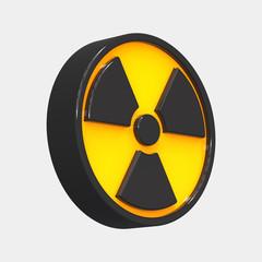 Radioactive 3d sign. 3d rendering