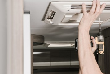 RV Air Conditioner Installation