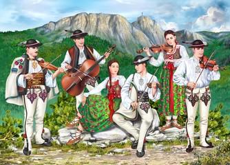 Fototapeta Traditional Zakopane Band obraz