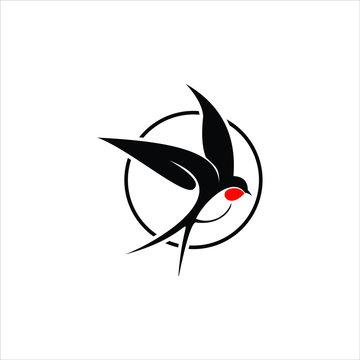 swallow logo simple modern beauty bird design idea