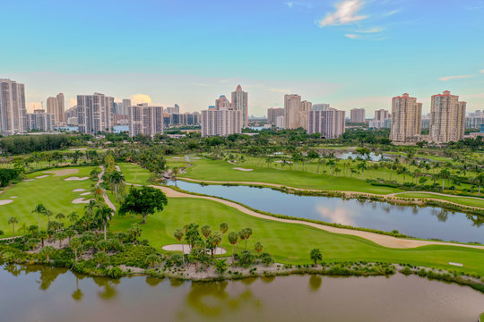 Aventura Florida golf course landscape Turnberry