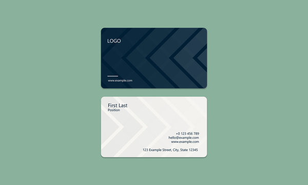 Business Card - Sleek, Blue, Modern