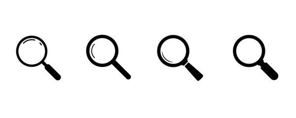 Fototapeta Search icons. Set of magnifying glass icons. Magnifier or loupe sign set. search icon Concept for finding people to work. obraz