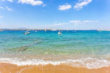 summer sunnyday seascape on Spetses island, Greece
