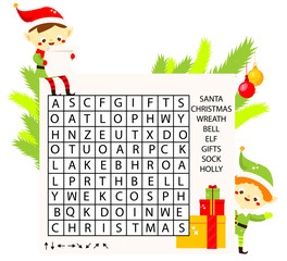 Christmas Word Search photos, royalty