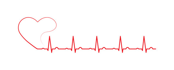 Cardiogram of the heart rate. Medicine and health