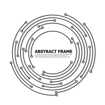 Abstract technology round frame. Vector illutration