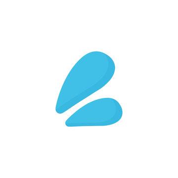 Sweat droplets emoji simple icon