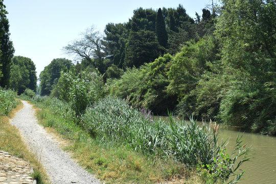 Canal de la Robine, Narbonne, Aude, Languedoc, Occitanie