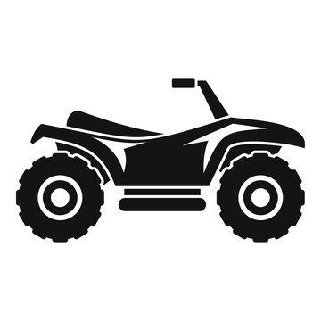 Terrain quad bike icon. Simple illustration of terrain quad bike vector icon for web design isolated on white background