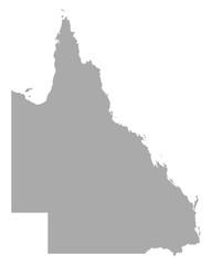 Fototapeta Karte von Queensland obraz