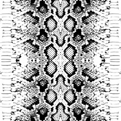 Snake skin scales texture. Seamless pattern black isolated on white background. simple ornament, Can be used for fabrics, wallpapers. Vector