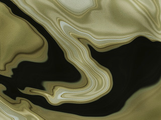 Golden Earth Fluid Abstract Art Background