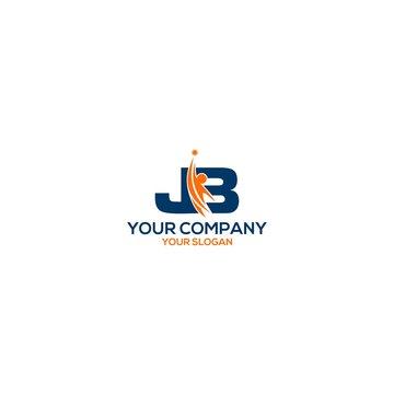 JB personal training logo design vector