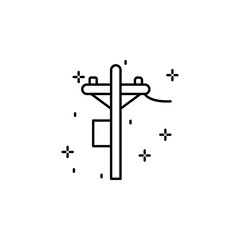 Construction, electricity tower icon. Element of construction icon