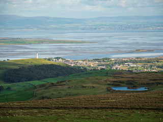 Ulverston and Morecambe Bay from Kirkby Moor