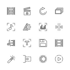 Video Editing - Flat Vector Icons