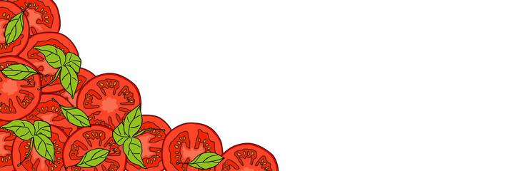 Obraz Krojone pomidory - fototapety do salonu