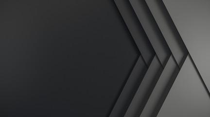 Fotobehang - Abstract black web banner