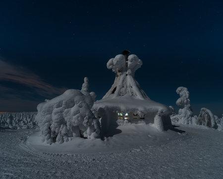 Hilltop hut, Kuntivaara, Kuuusamo, Finland
