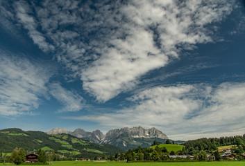 Blick auf den wilden Kaiser von Reith bei Kitzbühel