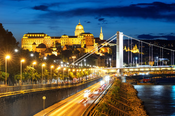 Budapest city, Hungary, in the blue evening light