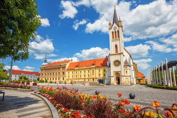 Keszthely historical Old town, Hungary