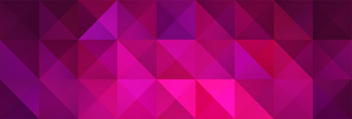 Geometric Magenta and Pink Backdrop with Triangles