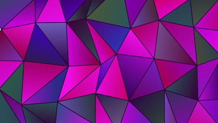 Geometric Magenta and Cyan Low Poly Backdrop