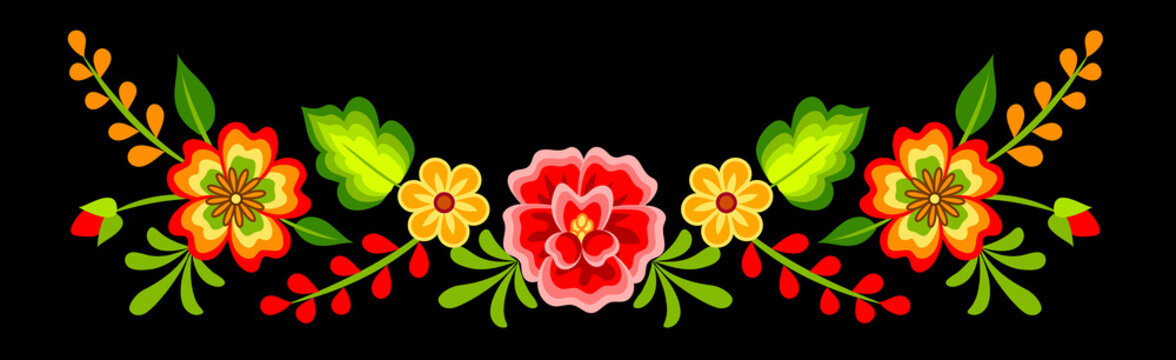 Mexican floral pattern