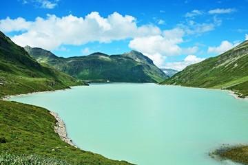 Austrian Alps-view on the lake Silvrettasee