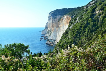 Greece,island Paxos-view of the Erimitis cliff