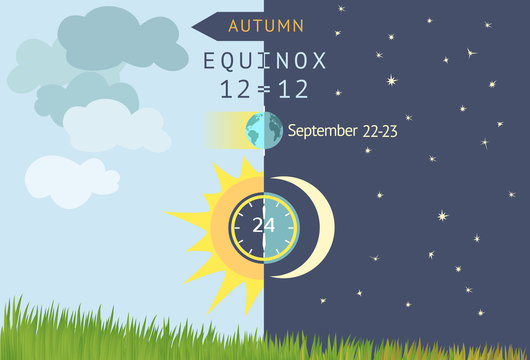 Autumnal equinox, day and night are equal to 12 hours.