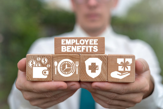 Employee Benefits Reward Encouraging Business concept.