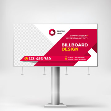 Billboard, creative design for outdoor advertising, outdoor banner for advertising goods and services
