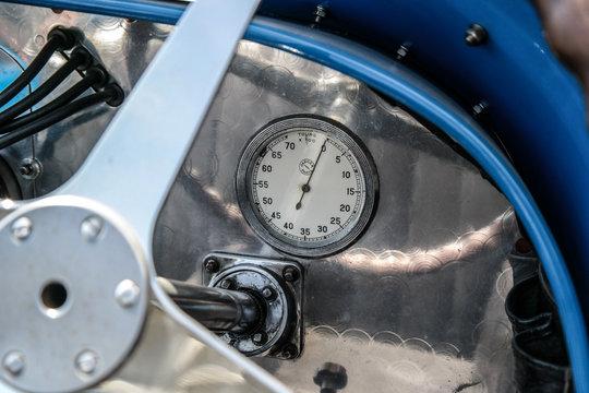 Tachometer in a old car