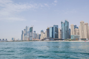 Skyline at the Coast in Dubai