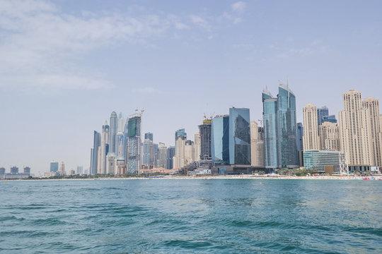 Skyline at the Coast in Dubai
