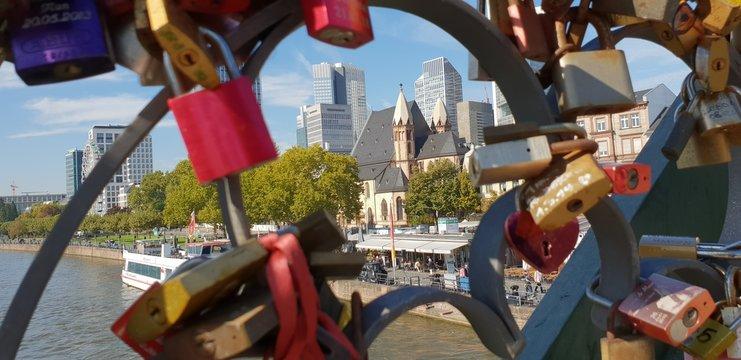 Lock at the bridge - Frankfurt