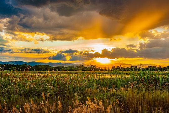 Sunset On Golden Pond