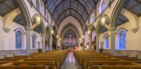 Trinity Cathedral in downtown Pittsburgh, Pennsylvania Wall mural